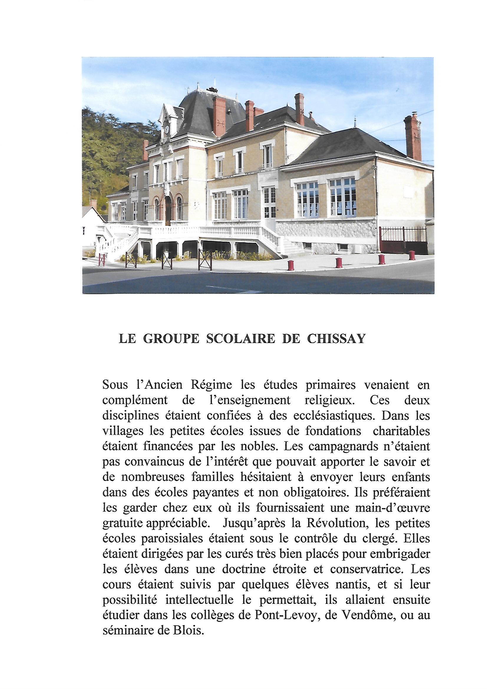 Groupe scolaire de Chissay page 1 - image/jpeg